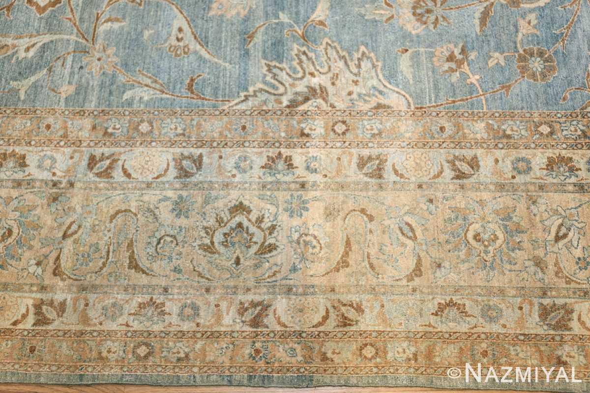 Large Antique Sky Blue Persian Kerman Carpet 46979 Border Nazmiyal