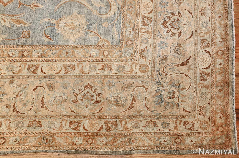 Large Antique Sky Blue Persian Kerman Carpet 46979 Corner Nazmiyal