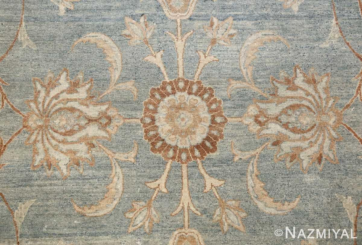 Large Antique Sky Blue Persian Kerman Carpet 46979 Flower Nazmiyal