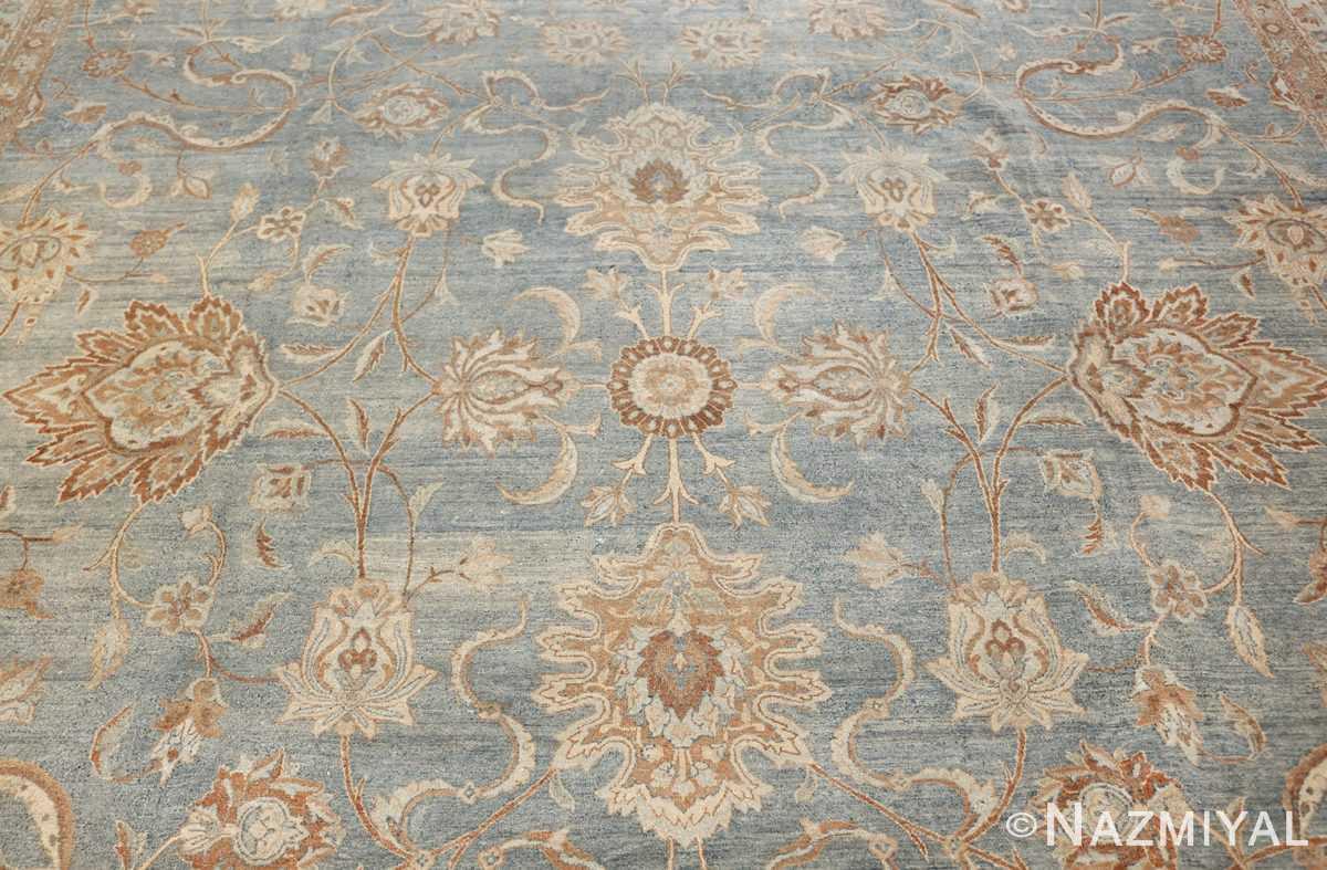 Large Antique Sky Blue Persian Kerman Carpet 46979 Middle Nazmiyal