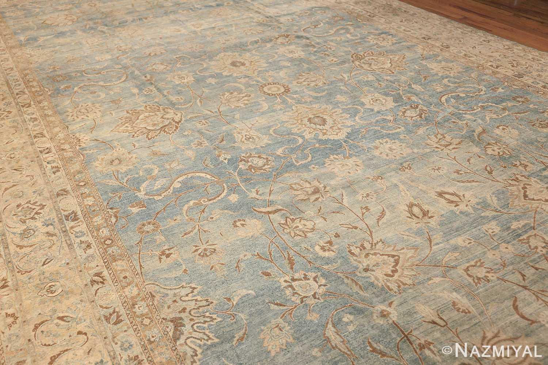 Large Antique Sky Blue Persian Kerman Carpet 46979 Side Nazmiyal