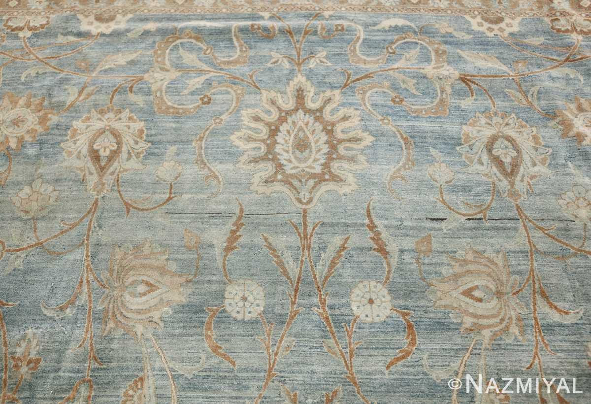 Large Antique Sky Blue Persian Kerman Carpet 46979 Top Nazmiyal