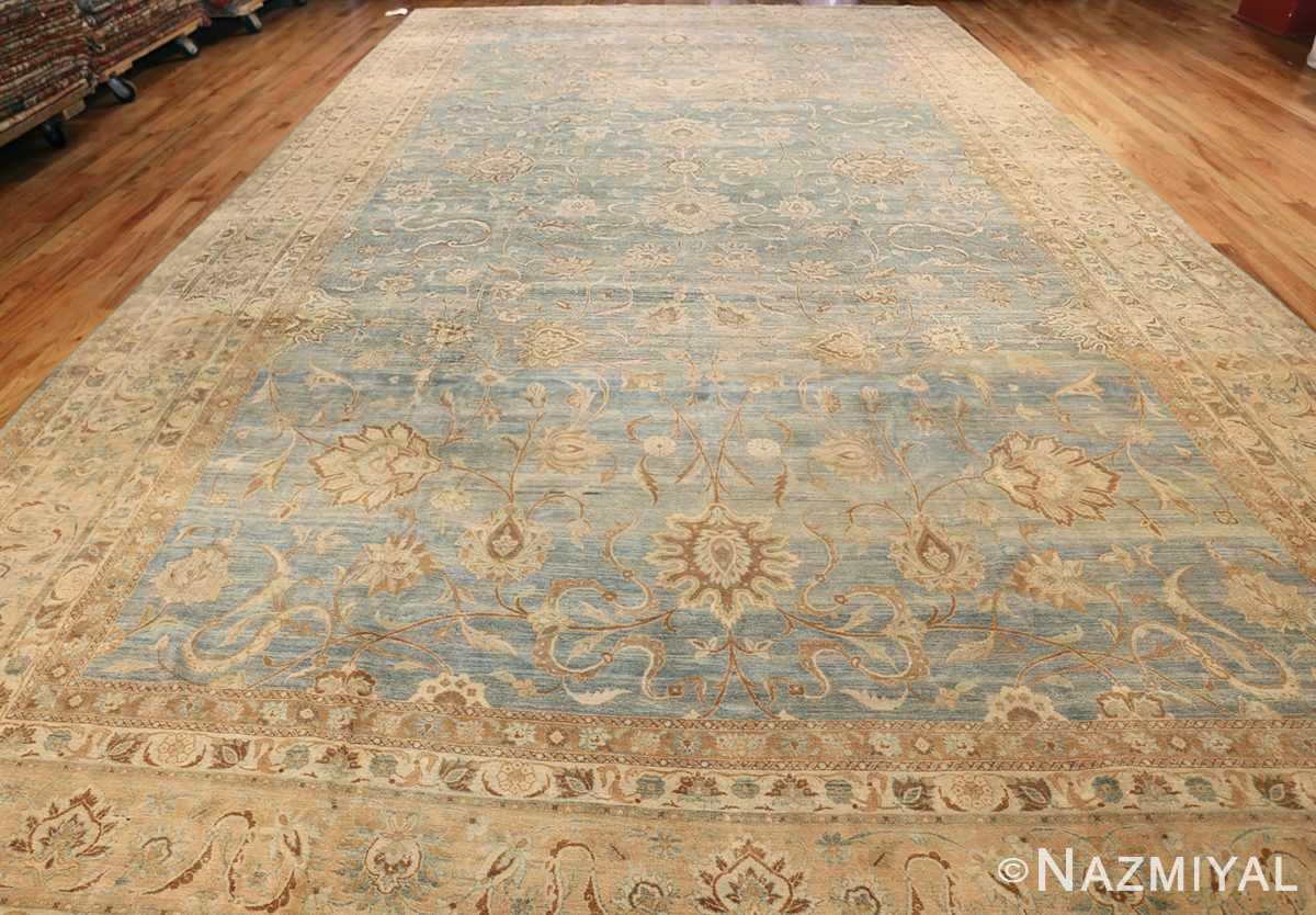 Large Antique Sky Blue Persian Kerman Carpet 46979 Whole Nazmiyal