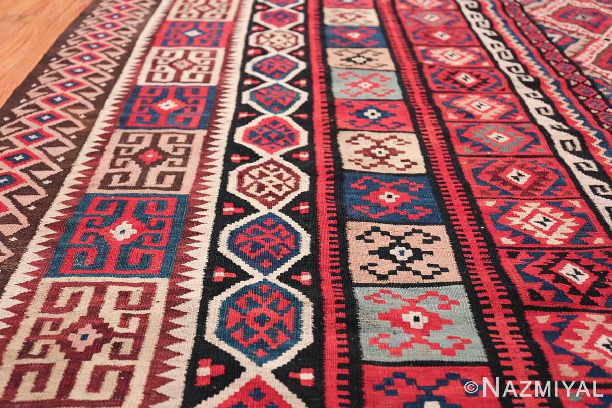 large tribal persian kilim vintage rug 47598 border Nazmiyal