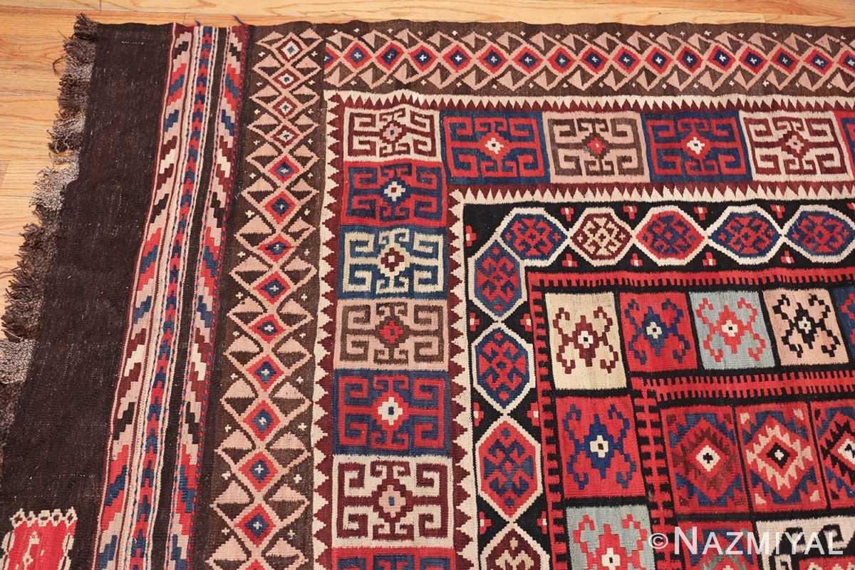 large tribal persian kilim vintage rug 47598 corner Nazmiyal