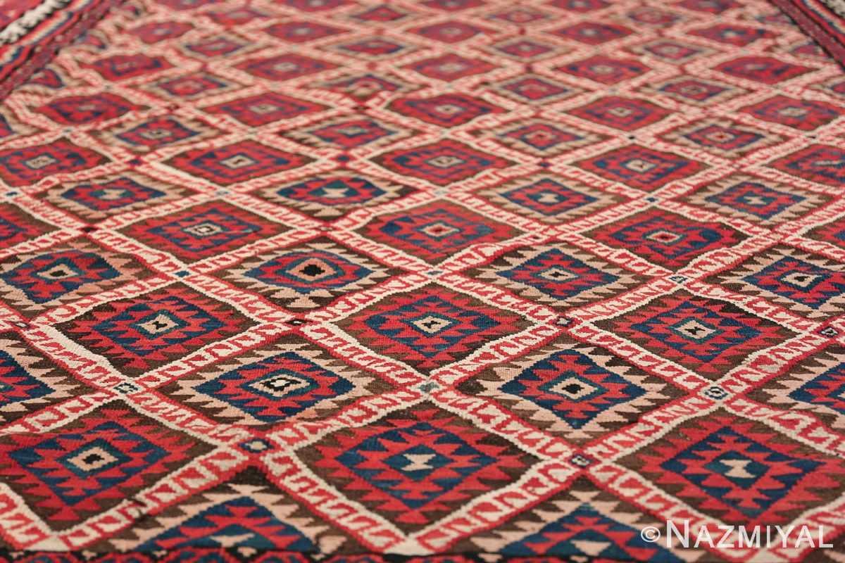 large tribal persian kilim vintage rug 47598 diamonds Nazmiyal