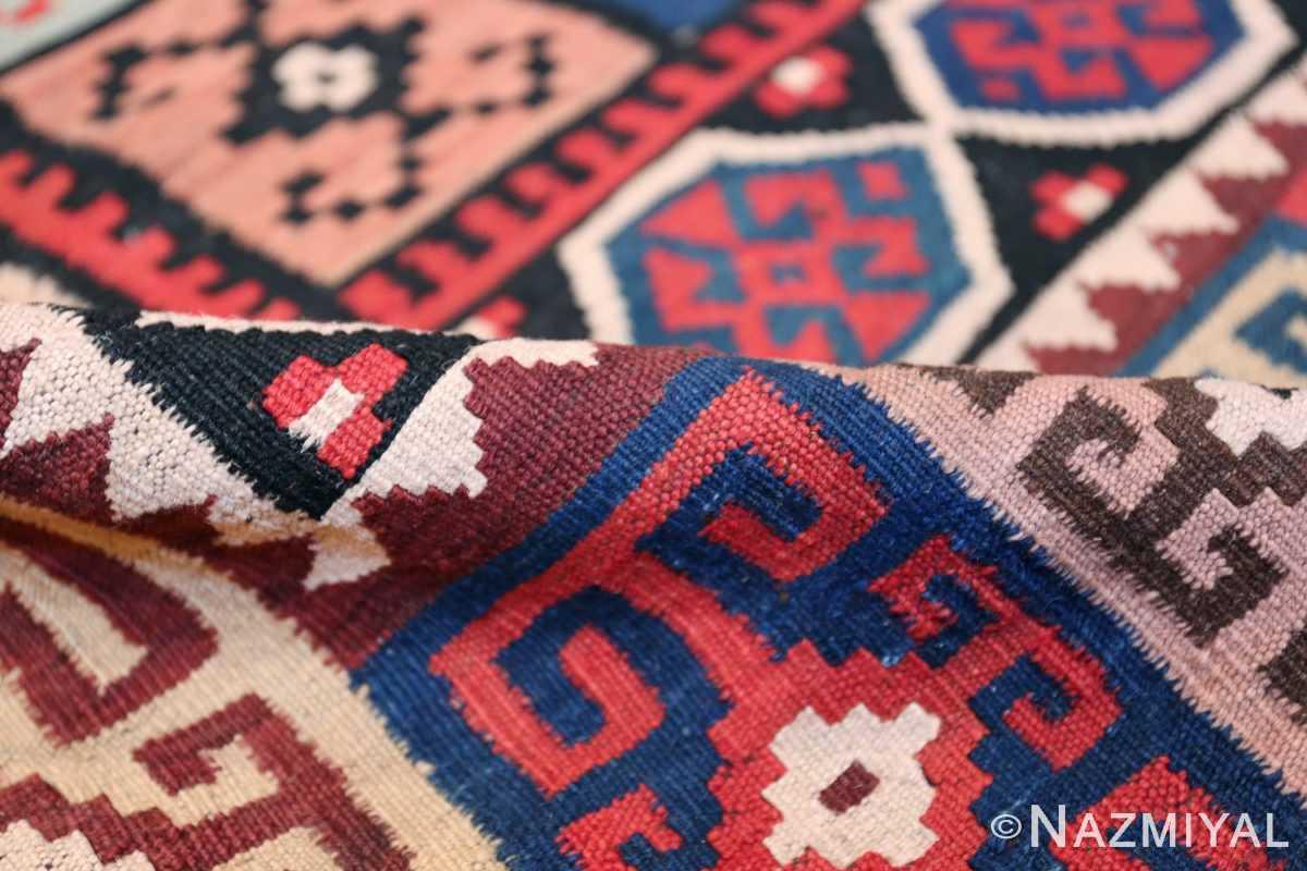 large tribal persian kilim vintage rug 47598 pile Nazmiyal