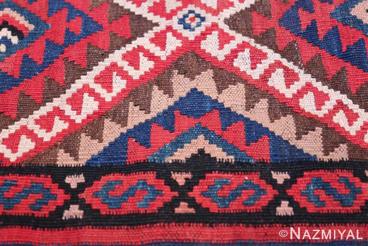 large tribal persian kilim vintage rug 47598 triangle Nazmiyal