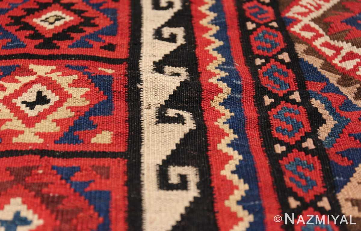 large tribal persian kilim vintage rug 47598 waves Nazmiyal