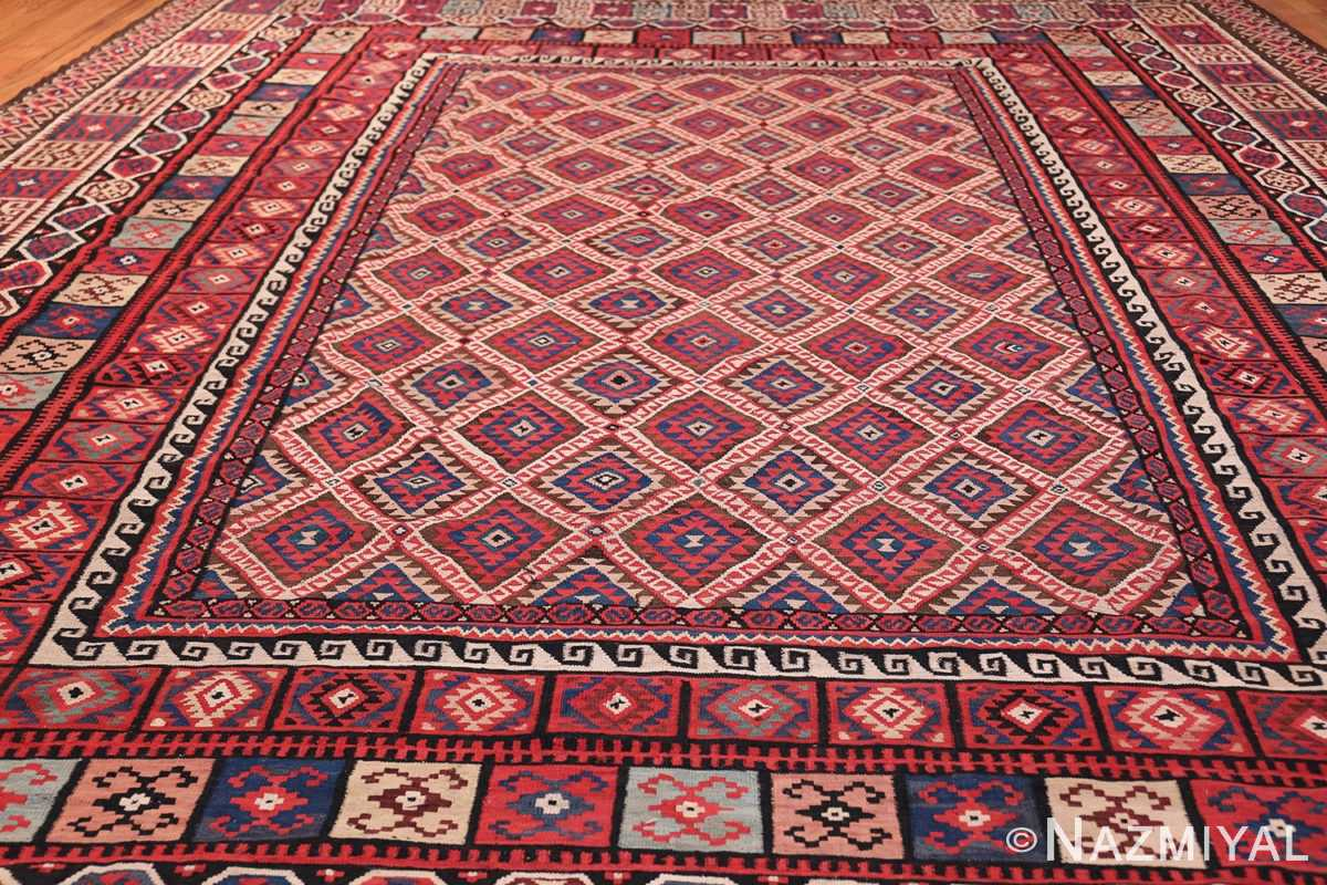 large tribal persian kilim vintage rug 47598 field Nazmiyal
