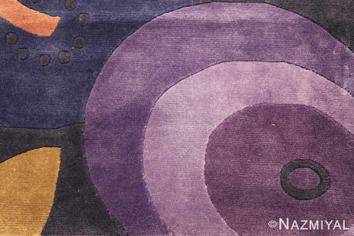 modernist carpet from nepal 47554 purple Nazmiyal