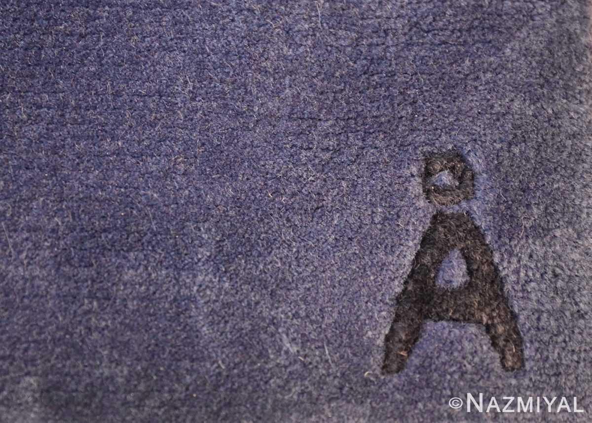 modernist carpet from nepal 47554 signature Nazmiyal