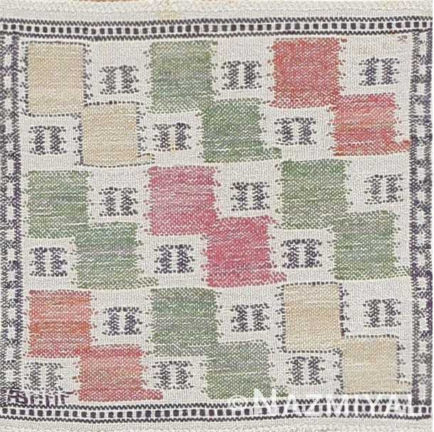 Vintage Scandinavian Rug by Marta Maas 47555 Detail/Large View