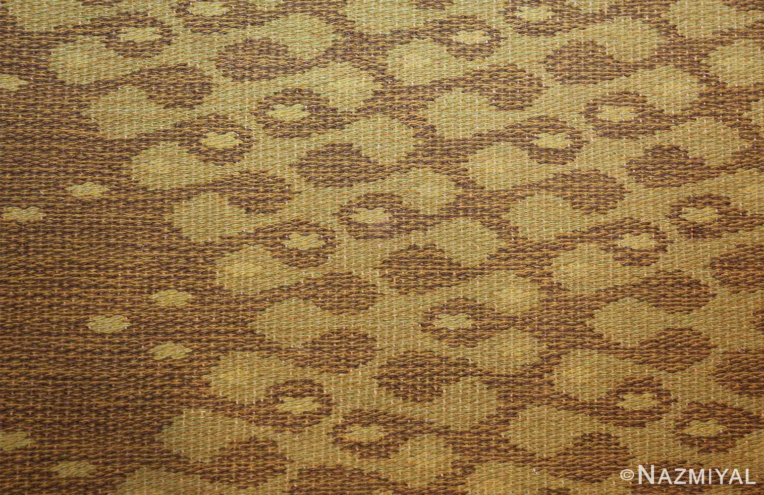 vintage swedish double sided rug 47559 circles Nazmiyal