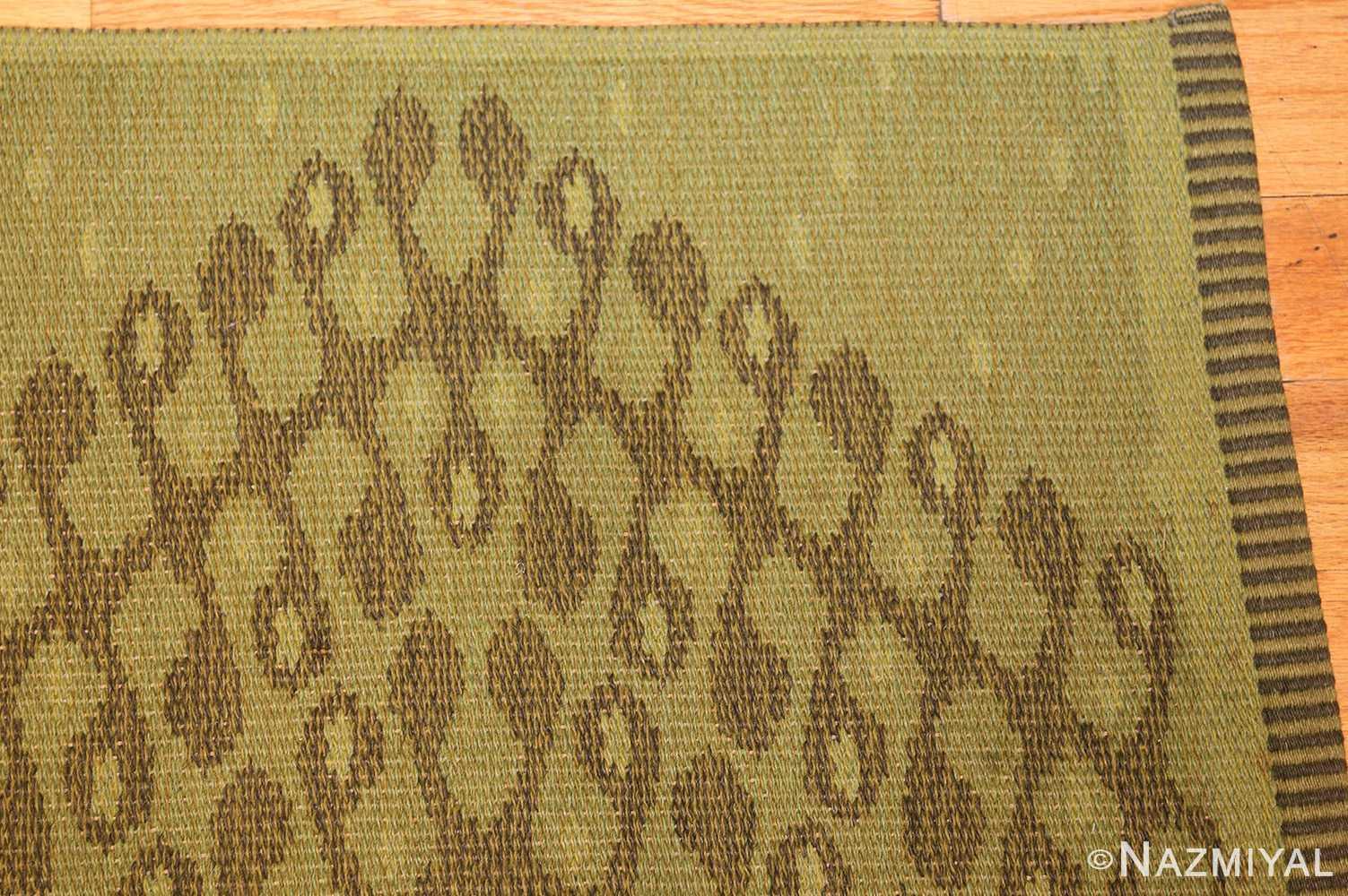 vintage swedish double sided rug 47559 corner Nazmiyal