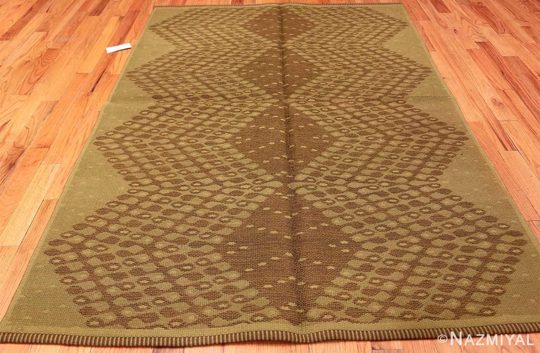 vintage swedish double sided rug 47559 dark Nazmiyal