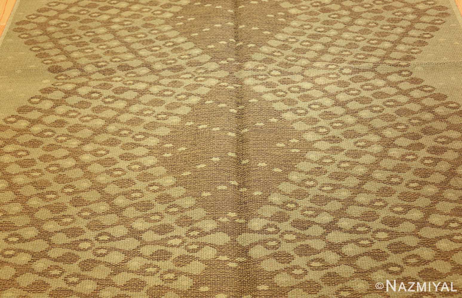 vintage swedish double sided rug 47559 middle Nazmiyal