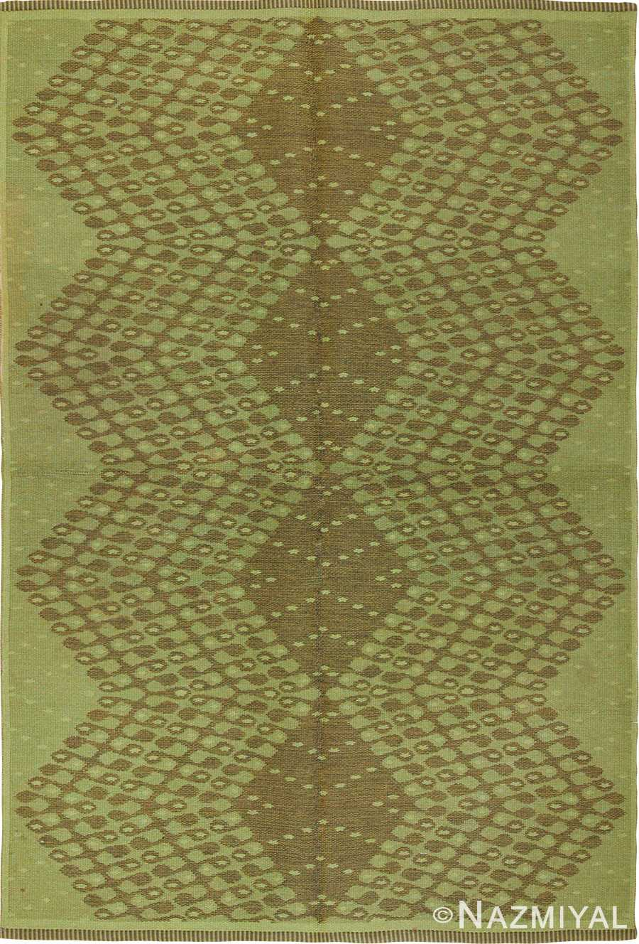 vintage swedish double sided rug 47559 Nazmiyal
