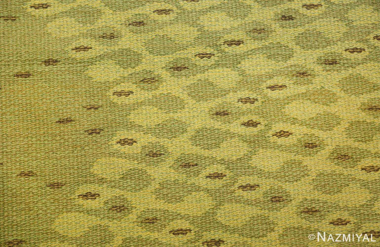 vintage swedish double sided rug 47559 pattern Nazmiyal