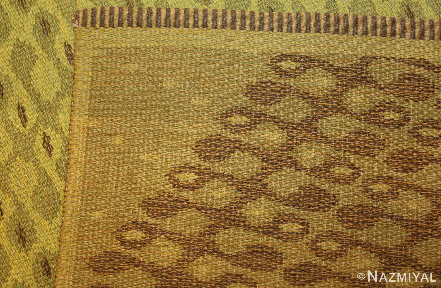 vintage swedish double sided rug 47559 weave Nazmiyal