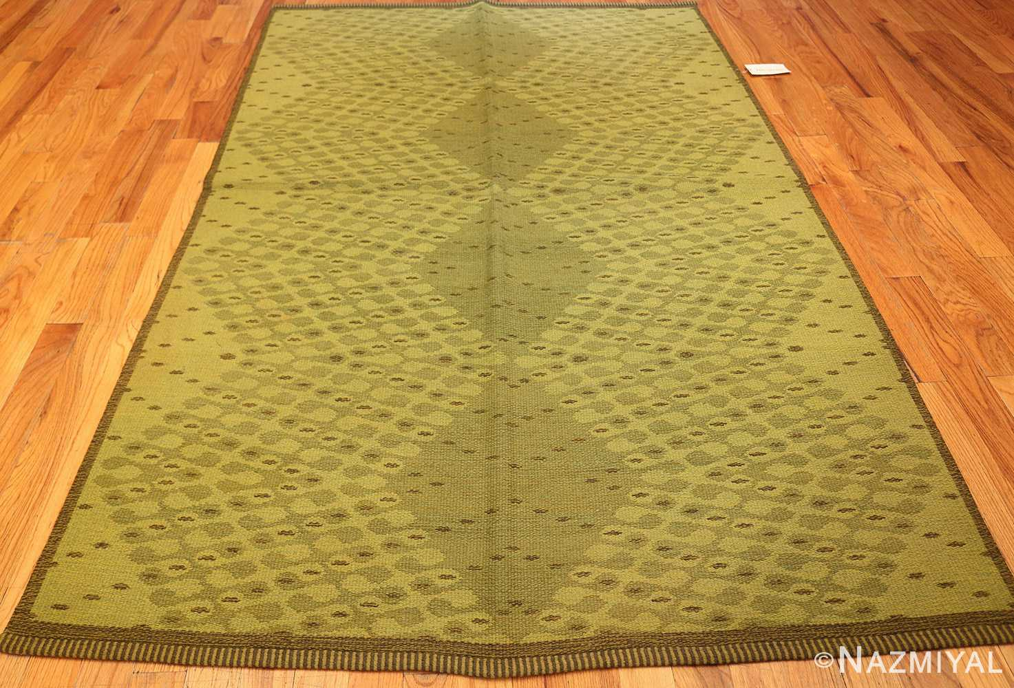 vintage swedish double sided rug 47559 whole Nazmiyal