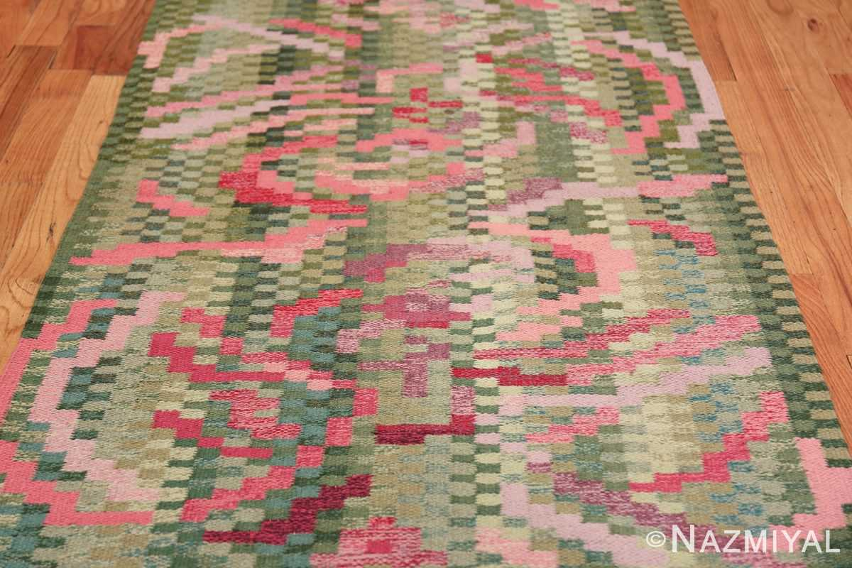 Vintage Swedish Runner Rug Signed Bice 47575 Closer Look Nazmiyal