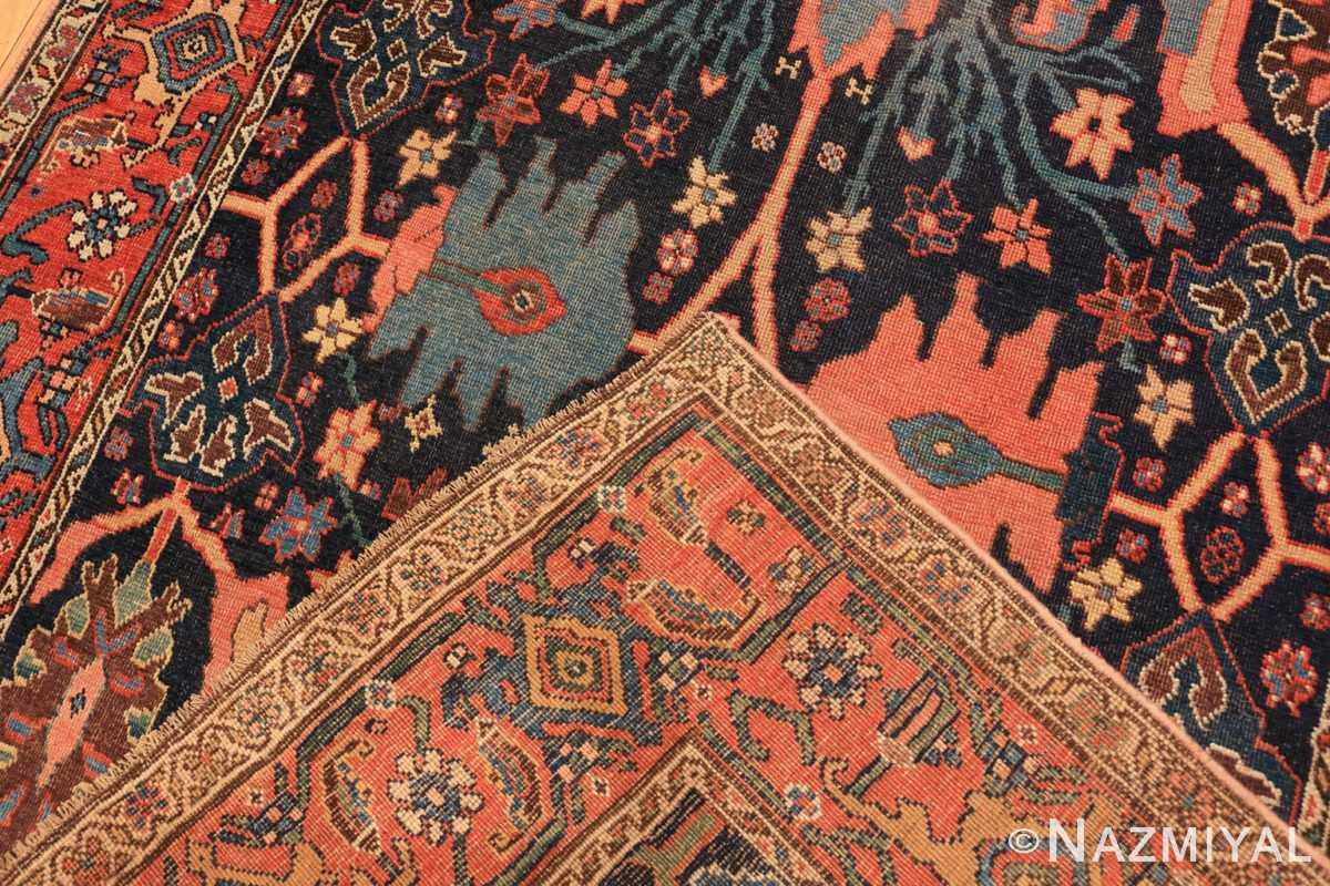 Weave Blue background Antique Persian Bidjar rug 47477 by Nazmiyal Antique Rugs NYC