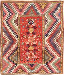 Antique Caucasian Bordjalou Kazak Rug 47368 Nazmiyal