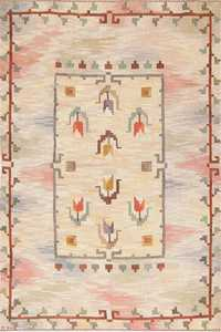 Mid Century Swedish Kilim 46857 Detail/Large View