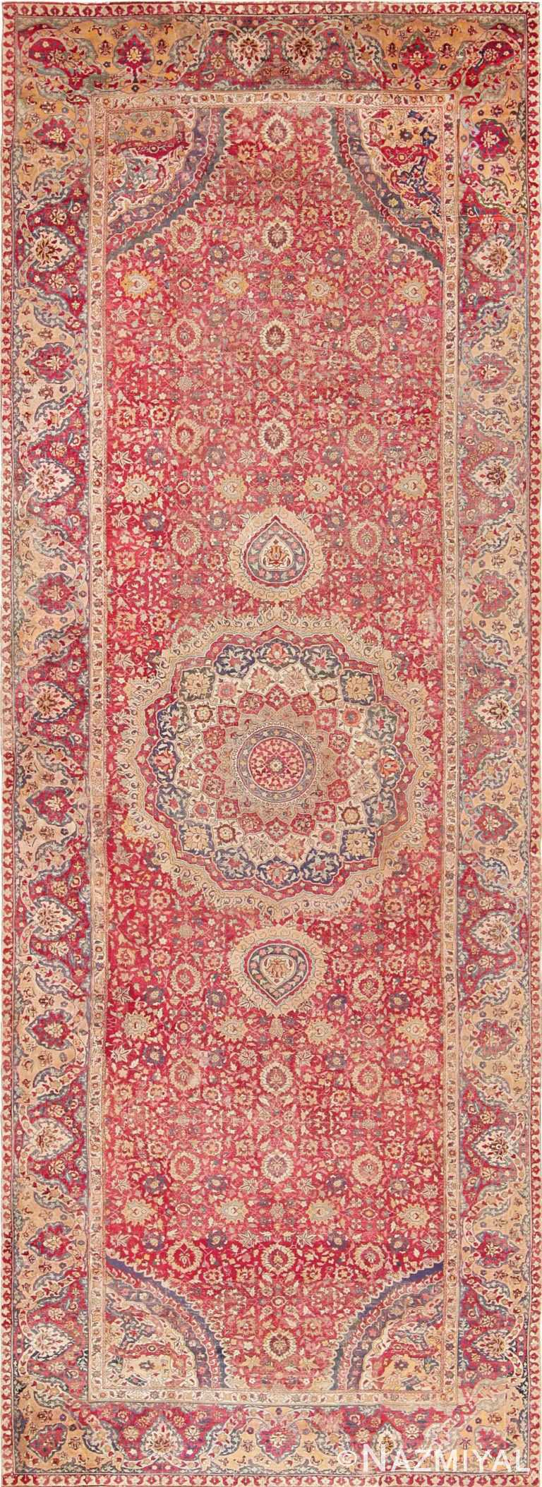 17th Century Mughal Gallery Carpet 47597 Nazmiyal