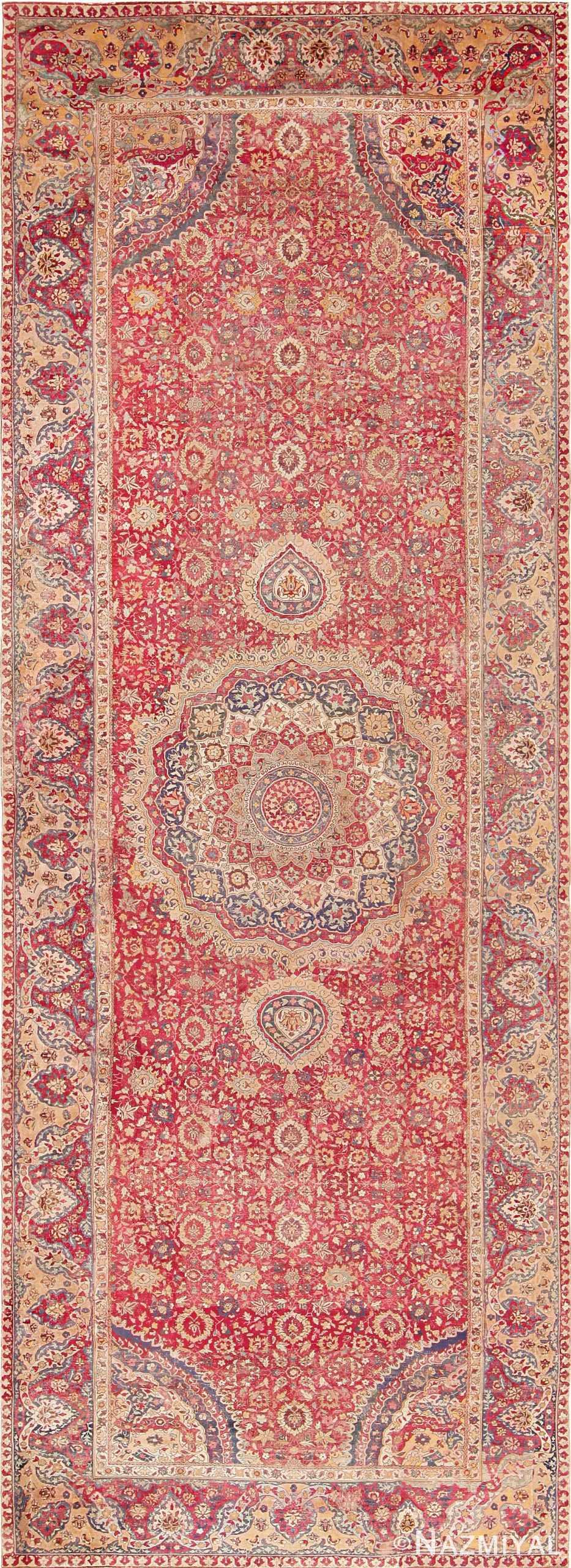 17th Century Mughal Gallery Carpet 47597 Nazmiyal