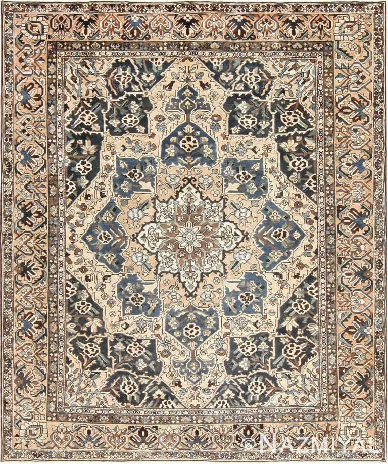 Antique Decorative Persian Bakhtiari Carpet 46840 Nazmiyal