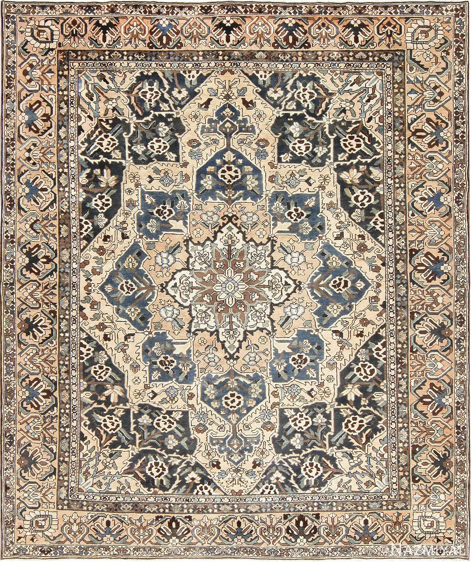 Antique Decorative Persian Bakhtiari Carpet 46840 Nazmiyal