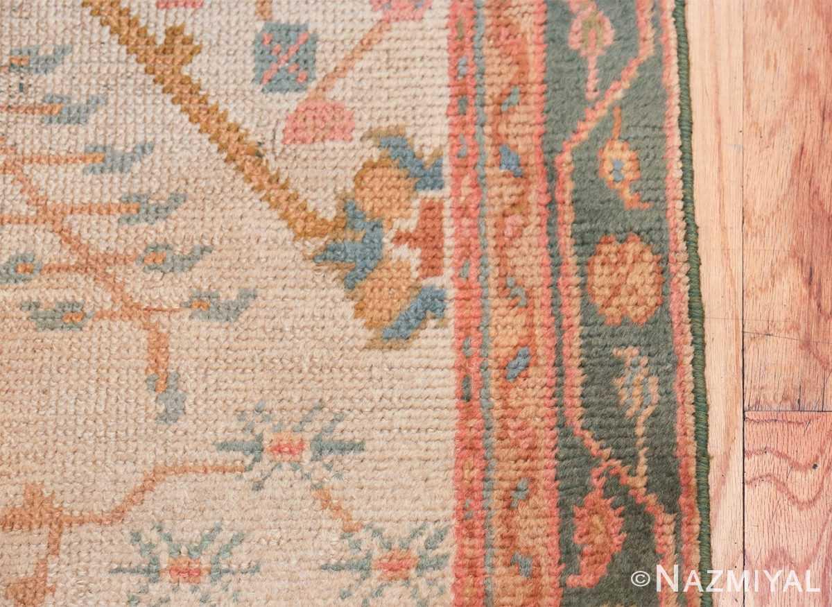 Antique Decorative Turkish Oushak Rug 47577 Border Design Nazmiyal