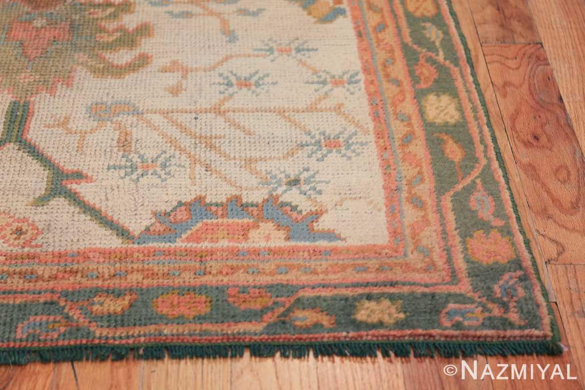 Antique Decorative Turkish Oushak Rug 47577 Corner Side Nazmiyal