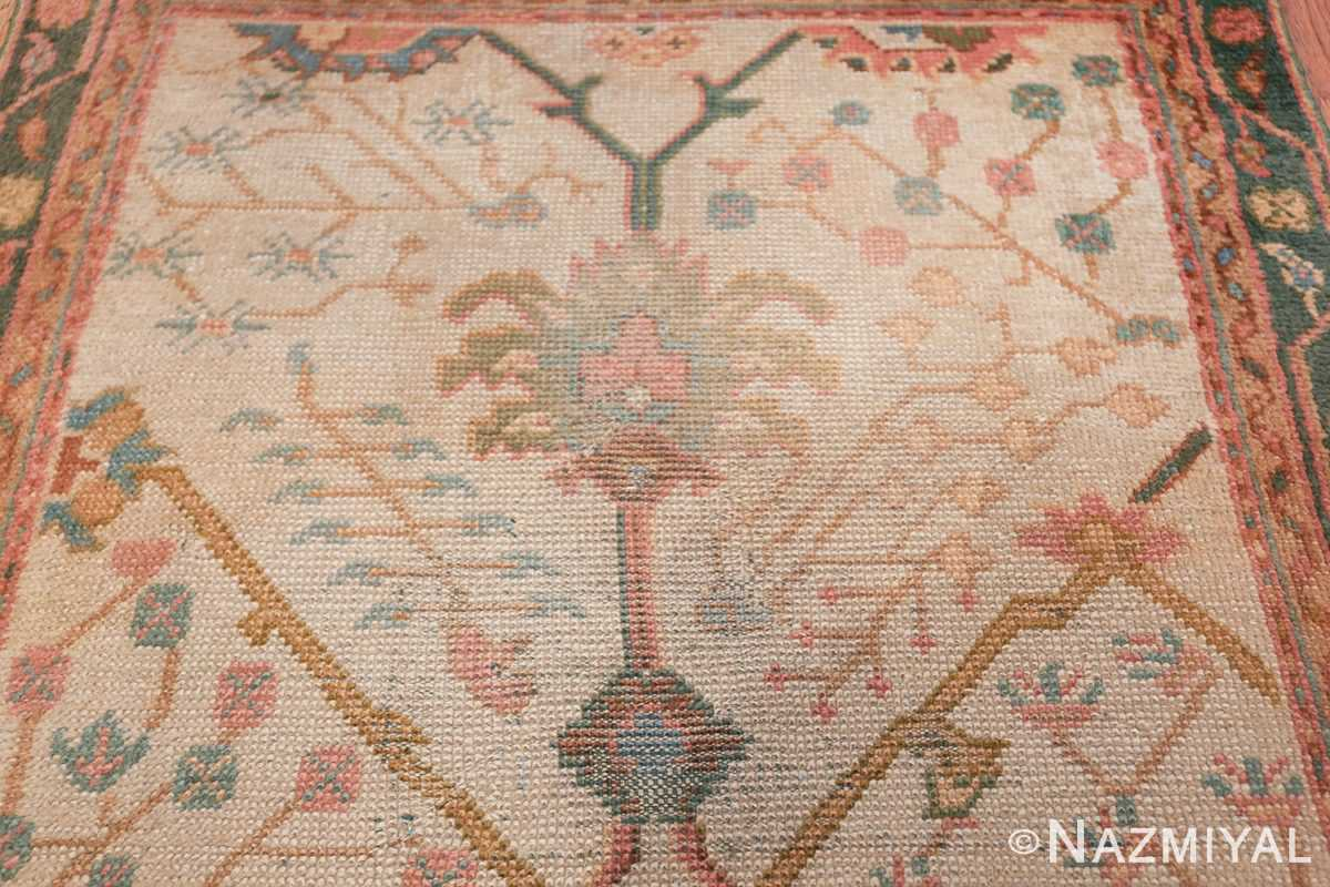 Antique Decorative Turkish Oushak Rug 47577 Dark Side Nazmiyal