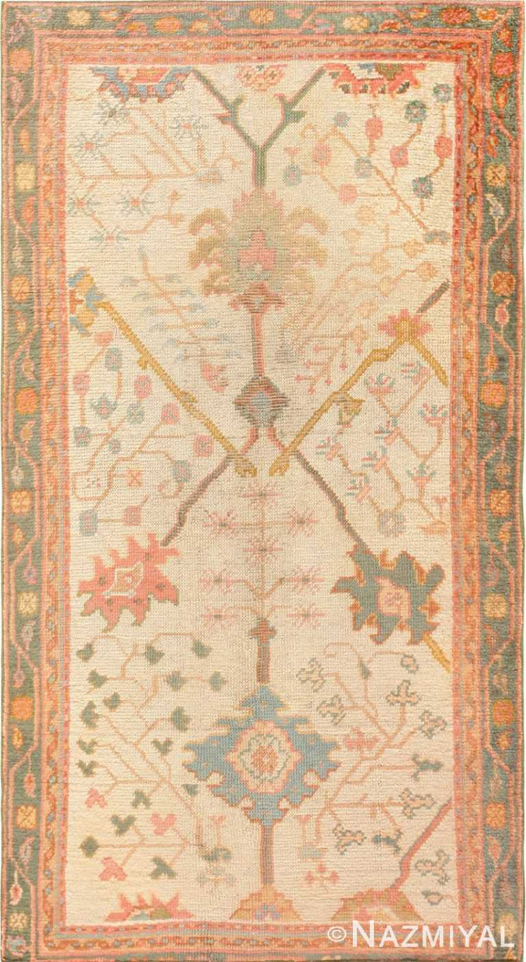 Antique Decorative Turkish Oushak Rug 47577 Nazmiyal