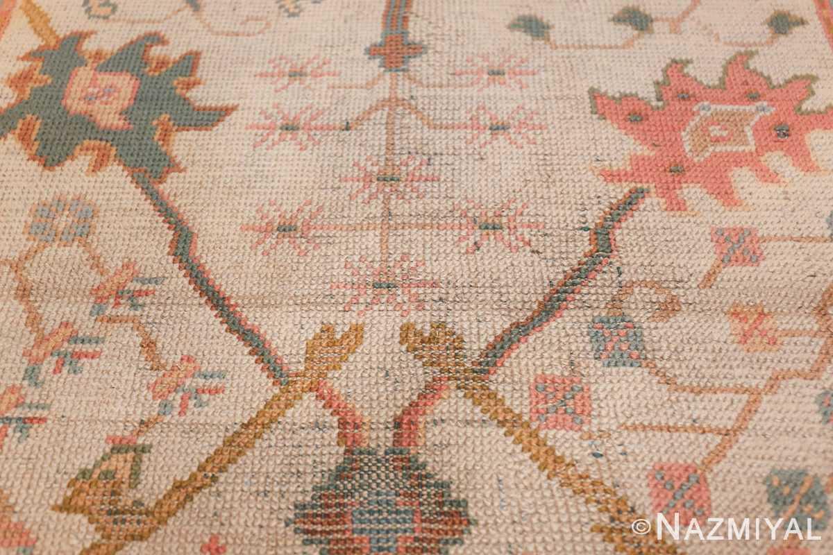 Antique Decorative Turkish Oushak Rug 47577 Double Branches Nazmiyal
