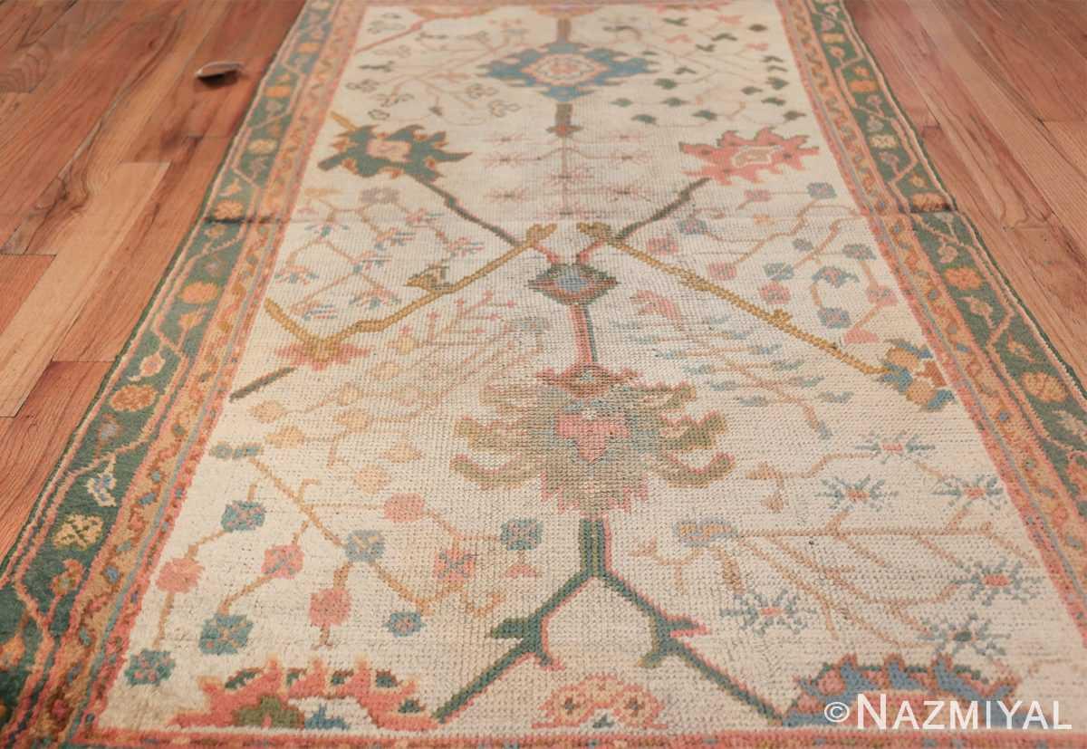 Antique Decorative Turkish Oushak Rug 47577 Field Design Nazmiyal