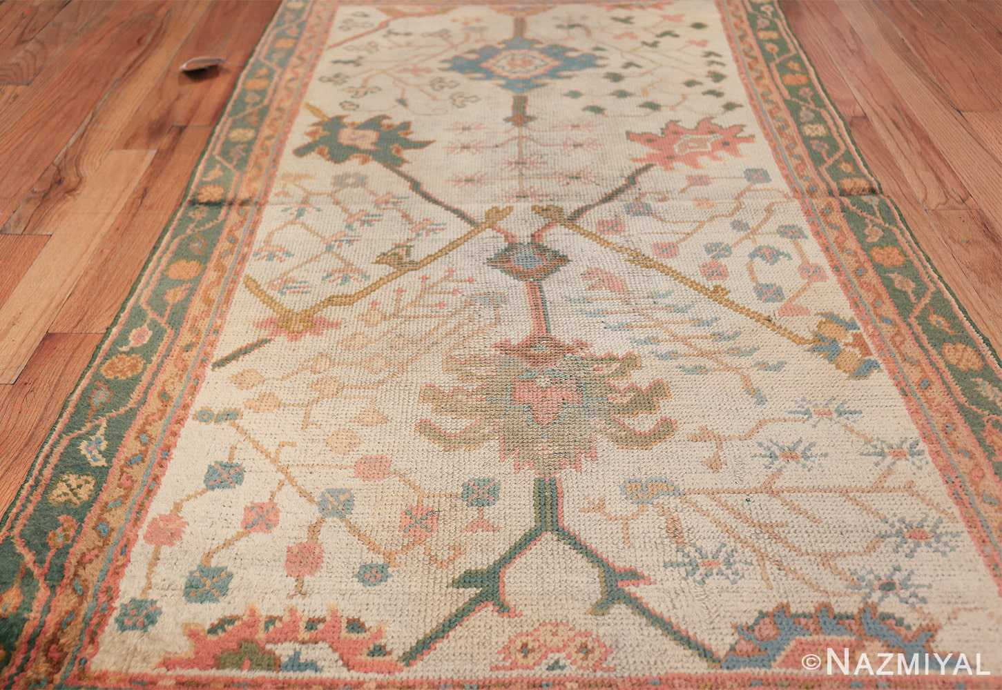Antique Decorative Turkish Oushak Rug 47577 Field Design Nazmiyal