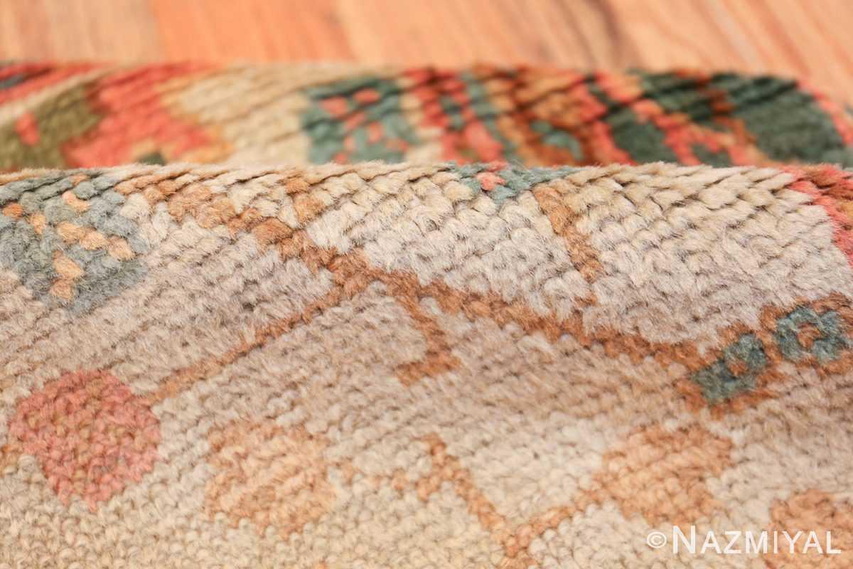 Antique Decorative Turkish Oushak Rug 47577 Ivory Pile Nazmiyal