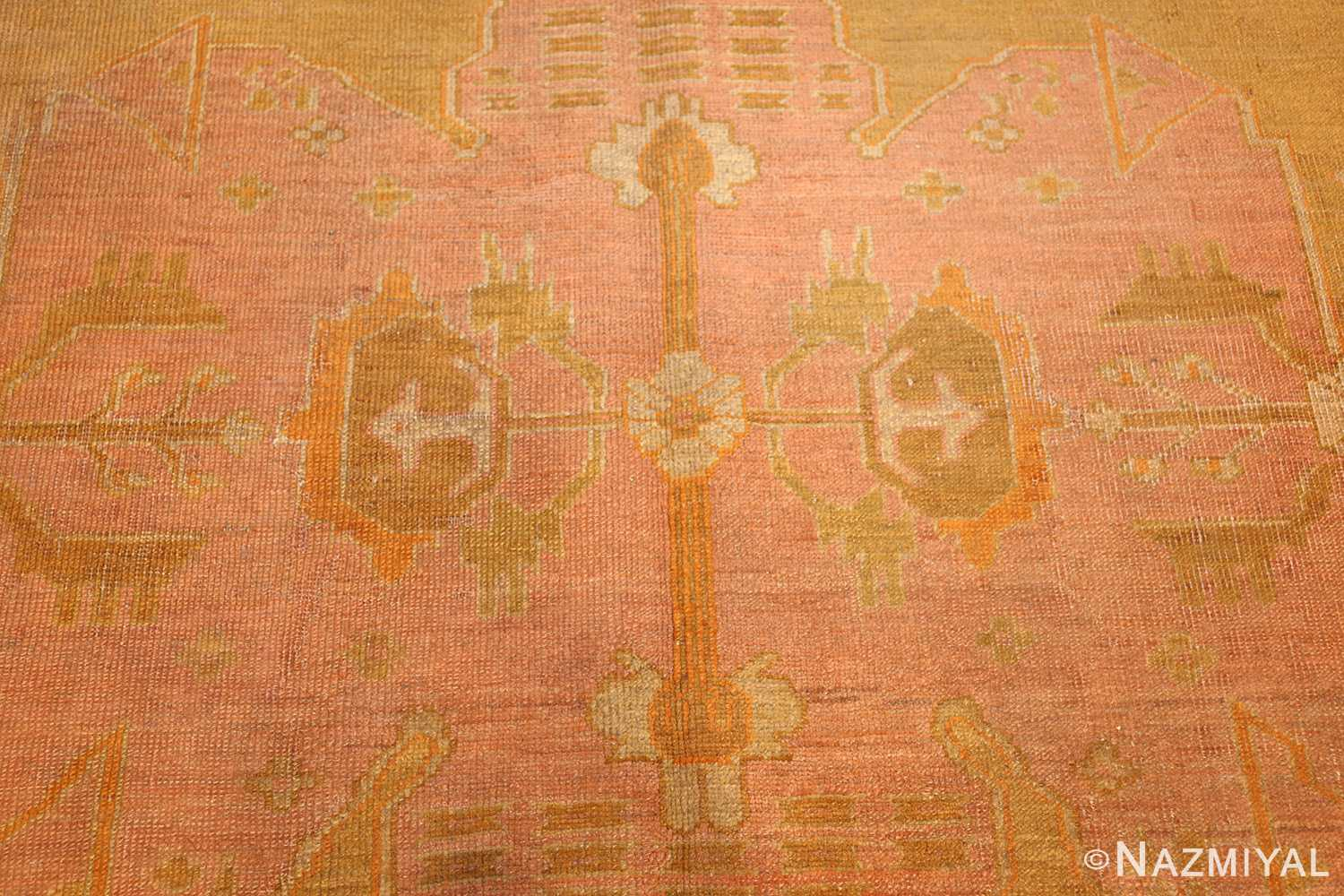 antique green turkish oushak rug 50718 center Nazmiyal
