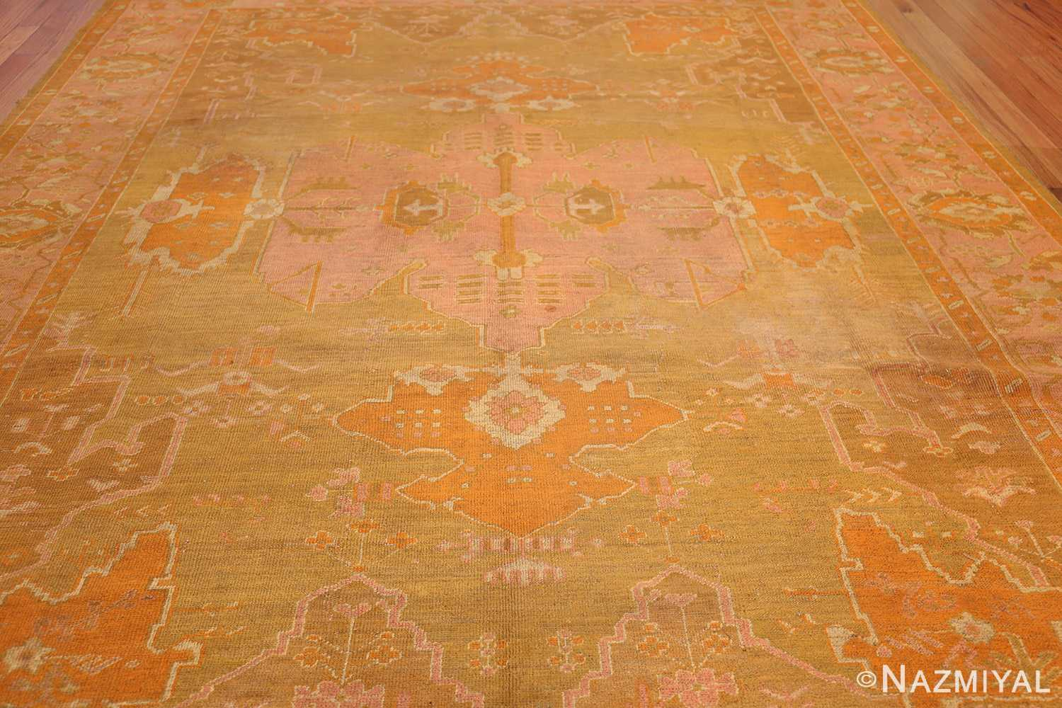 antique green turkish oushak rug 50718 full Nazmiyal