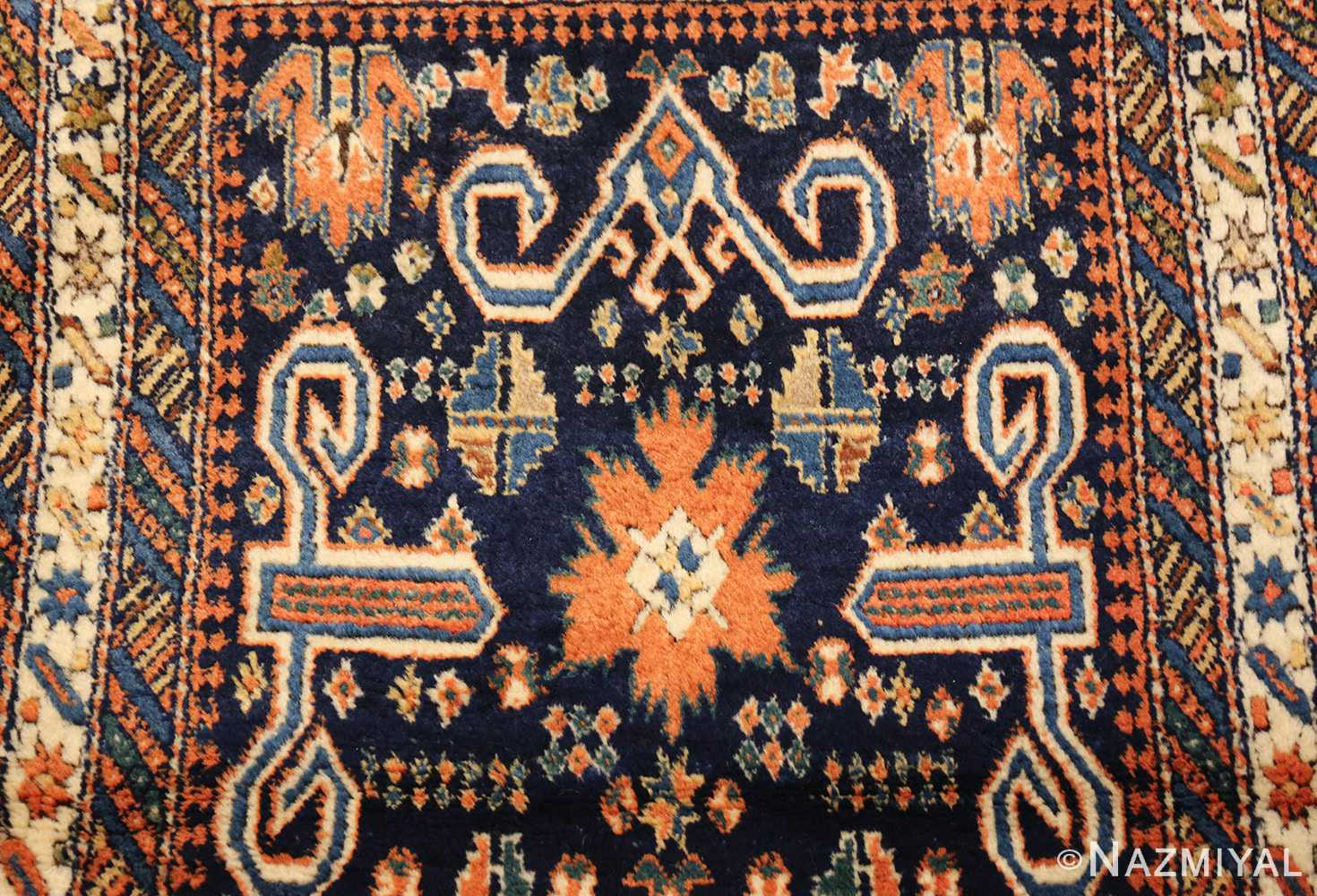 antique perpedil caucasian shirvan rug 47603 top Nazmiyal