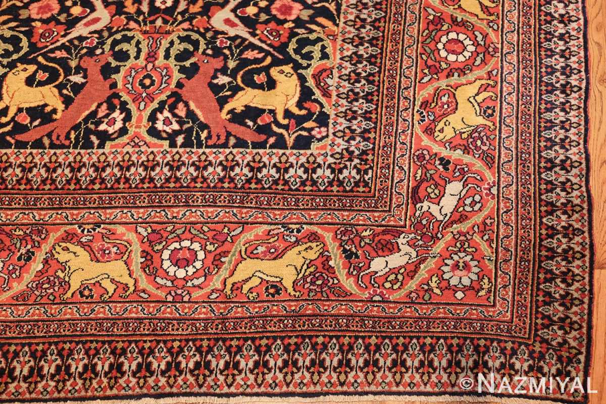 antique persian khorassan animal motif rug 47605 corner Nazmiyal
