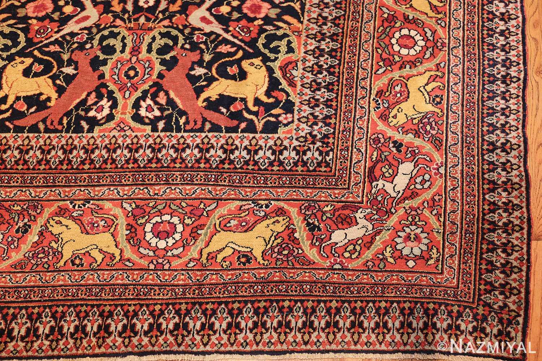 antique persian khorassan animal motif rug 47605 corner Nazmiyal