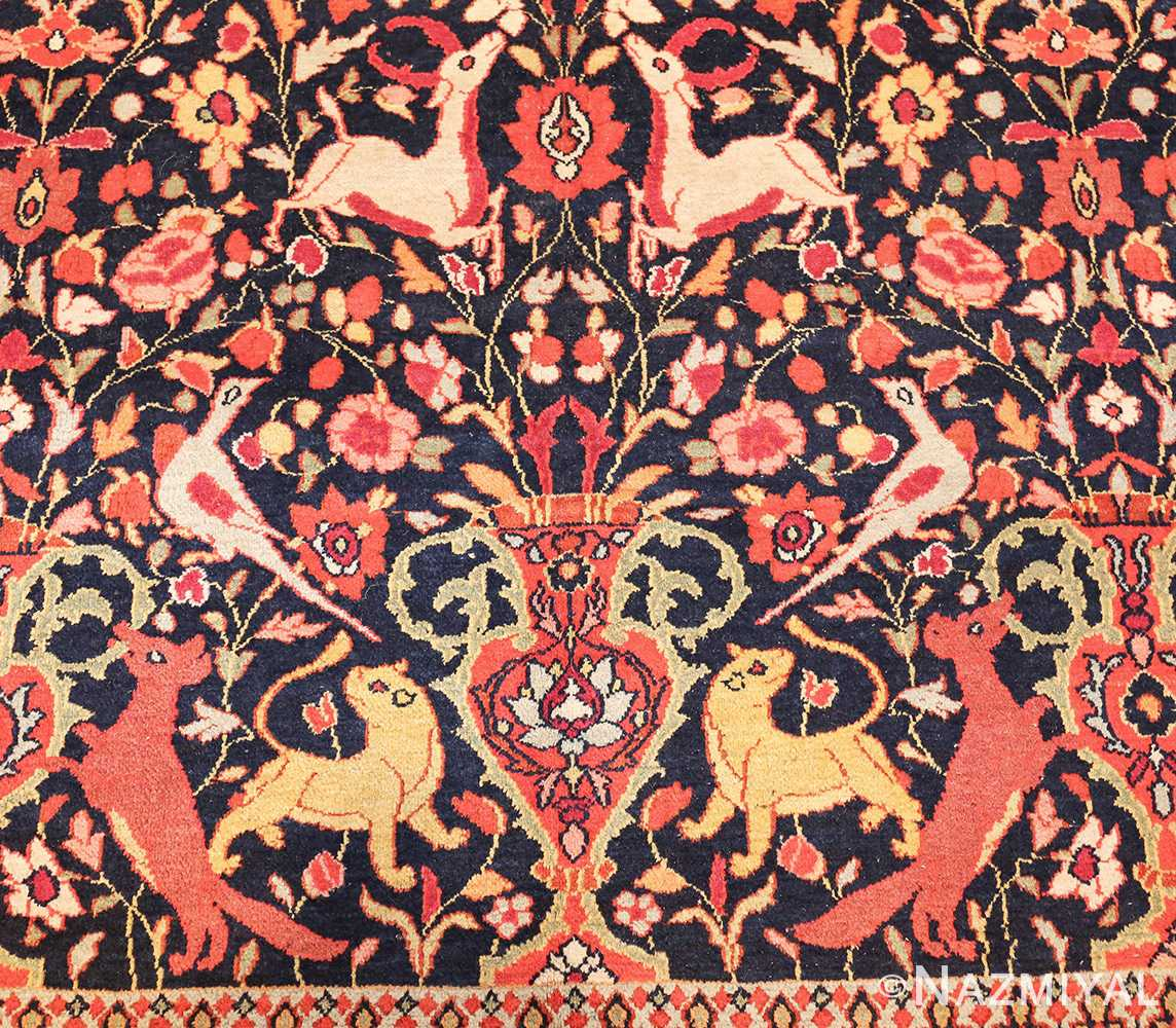 antique persian khorassan animal motif rug 47605 vase Nazmiyal