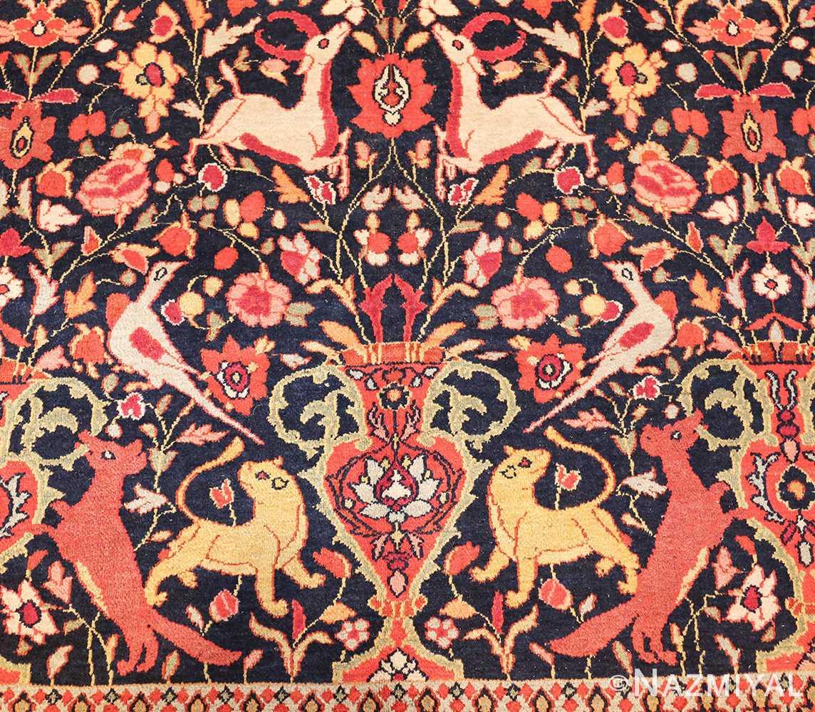 antique persian khorassan animal motif rug 47605 vase Nazmiyal