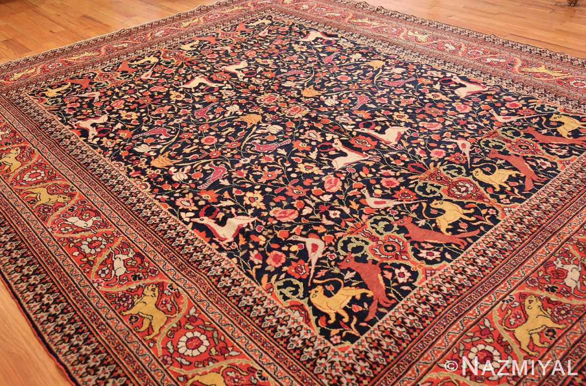 antique persian khorassan animal motif rug 47605 whole Nazmiyal