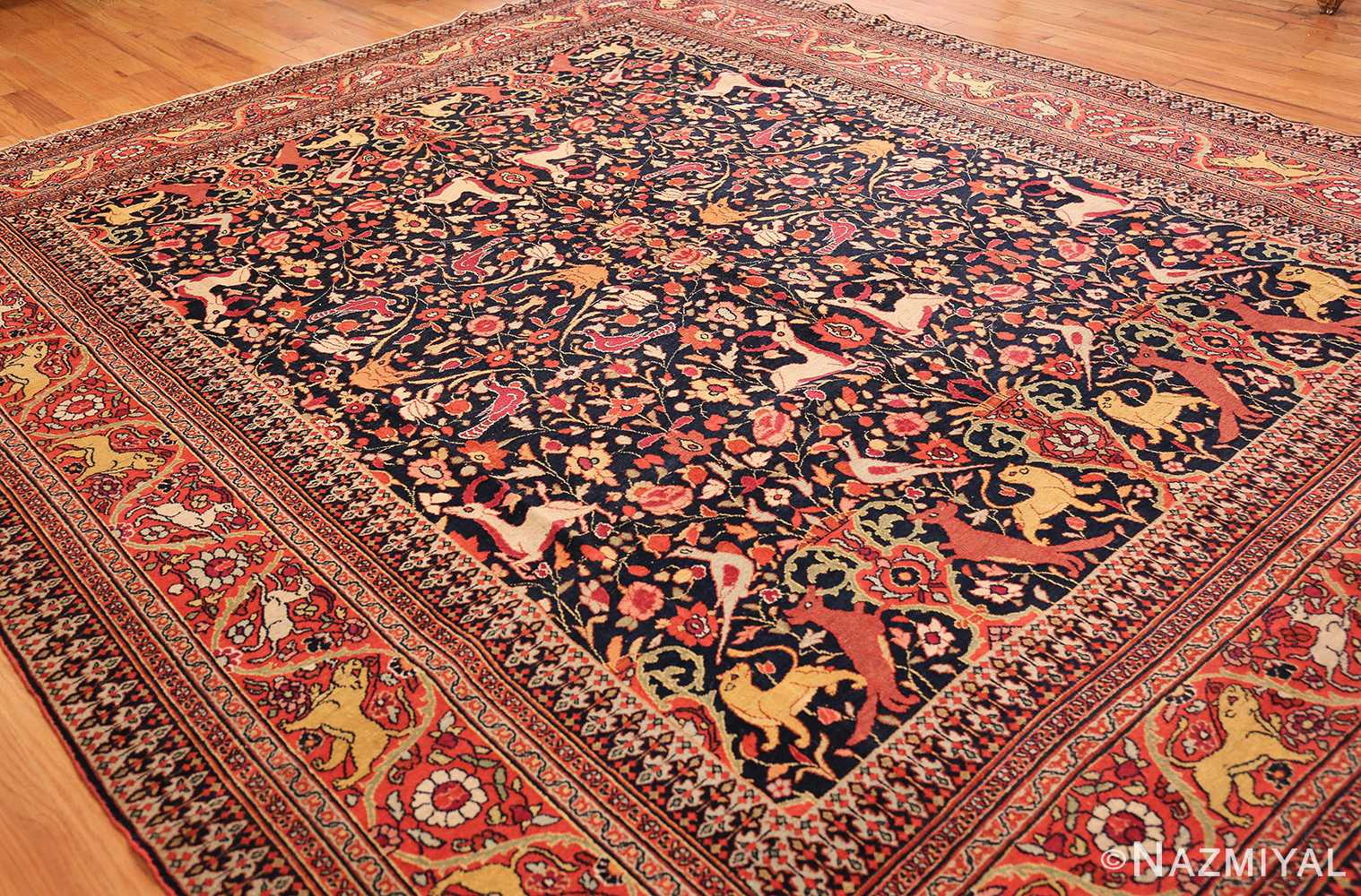 antique persian khorassan animal motif rug 47605 whole Nazmiyal